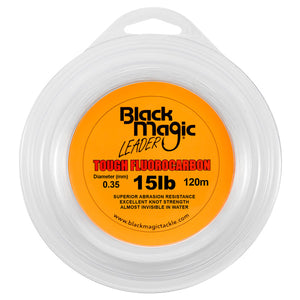 BLACK MAGIC TOUGH FLUOROCARBON LEADER - 15LB - Mansfield Hunting & Fishing - Products to prepare for Corona Virus