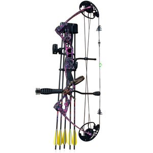 Vulture Aid Deluxe Compound Bow Package - Blue Camo or Muddy Girl Camo 45lb