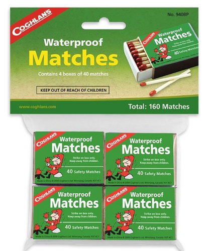 WATERPROOF MATCHES -  - Mansfield Hunting & Fishing - Products to prepare for Corona Virus