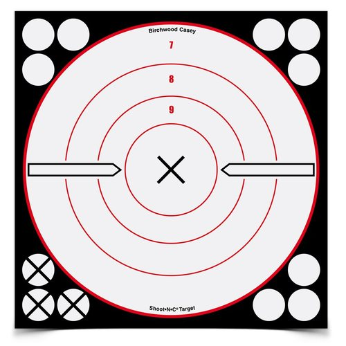 BIRCHWOOD CASEY SHOOT N C 8 WT/BT BULLS-EYE TARGET 6 PACK
