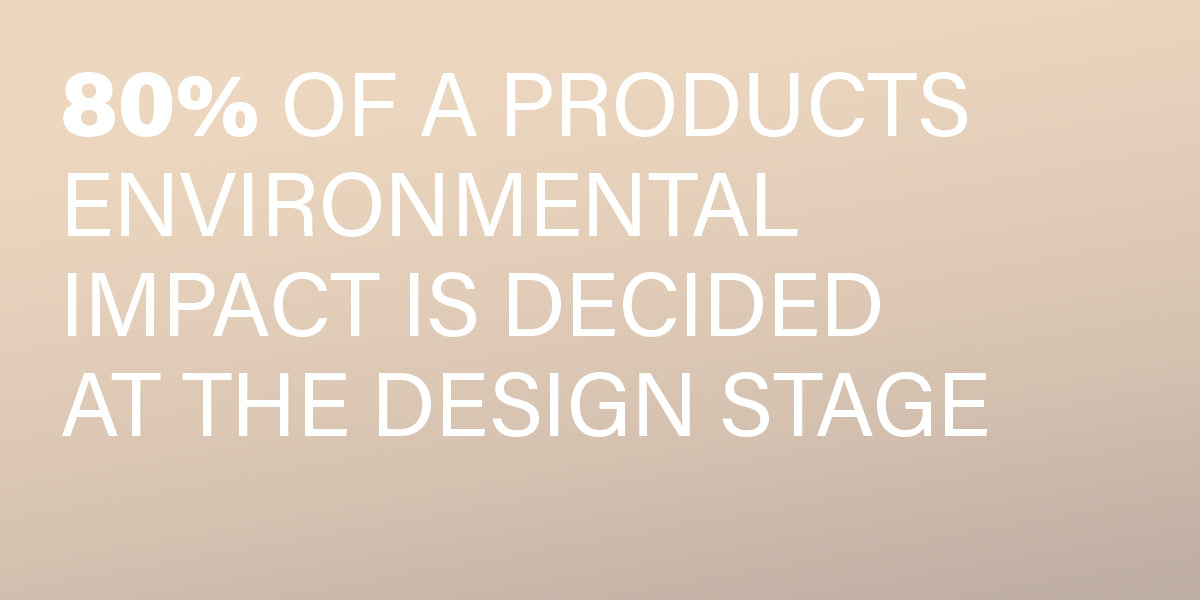 80% of a product's environmental impact is decided at the design stage.