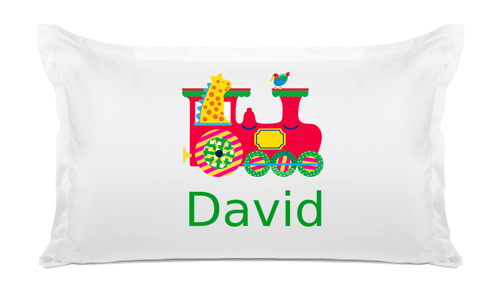 Animal Train - Personalized Kids Pillowcase Collection