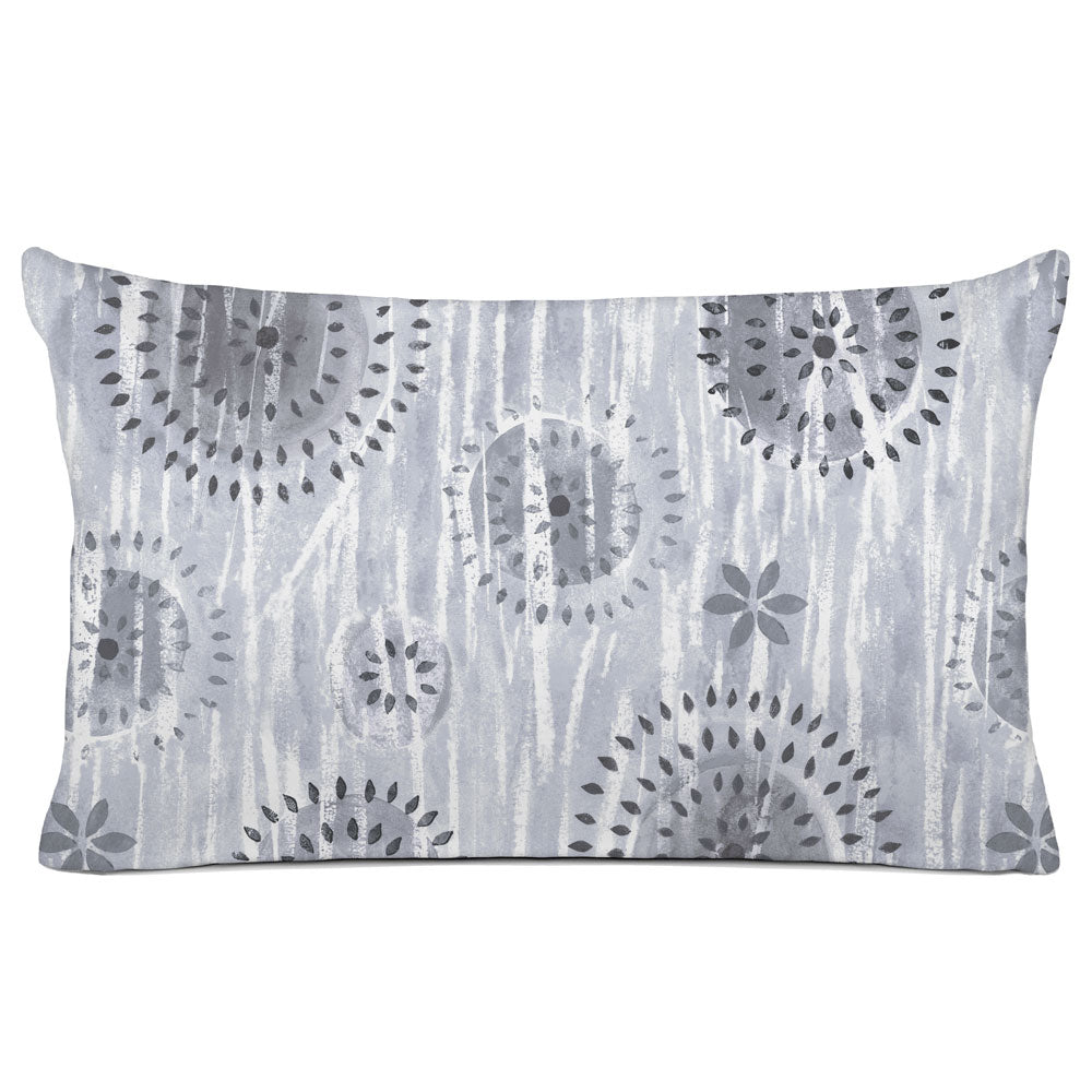 ABSTRACT PILLOW SHAM - BEDDING - BOCA SMOKE GREY - GEOMETRIC DESIGN