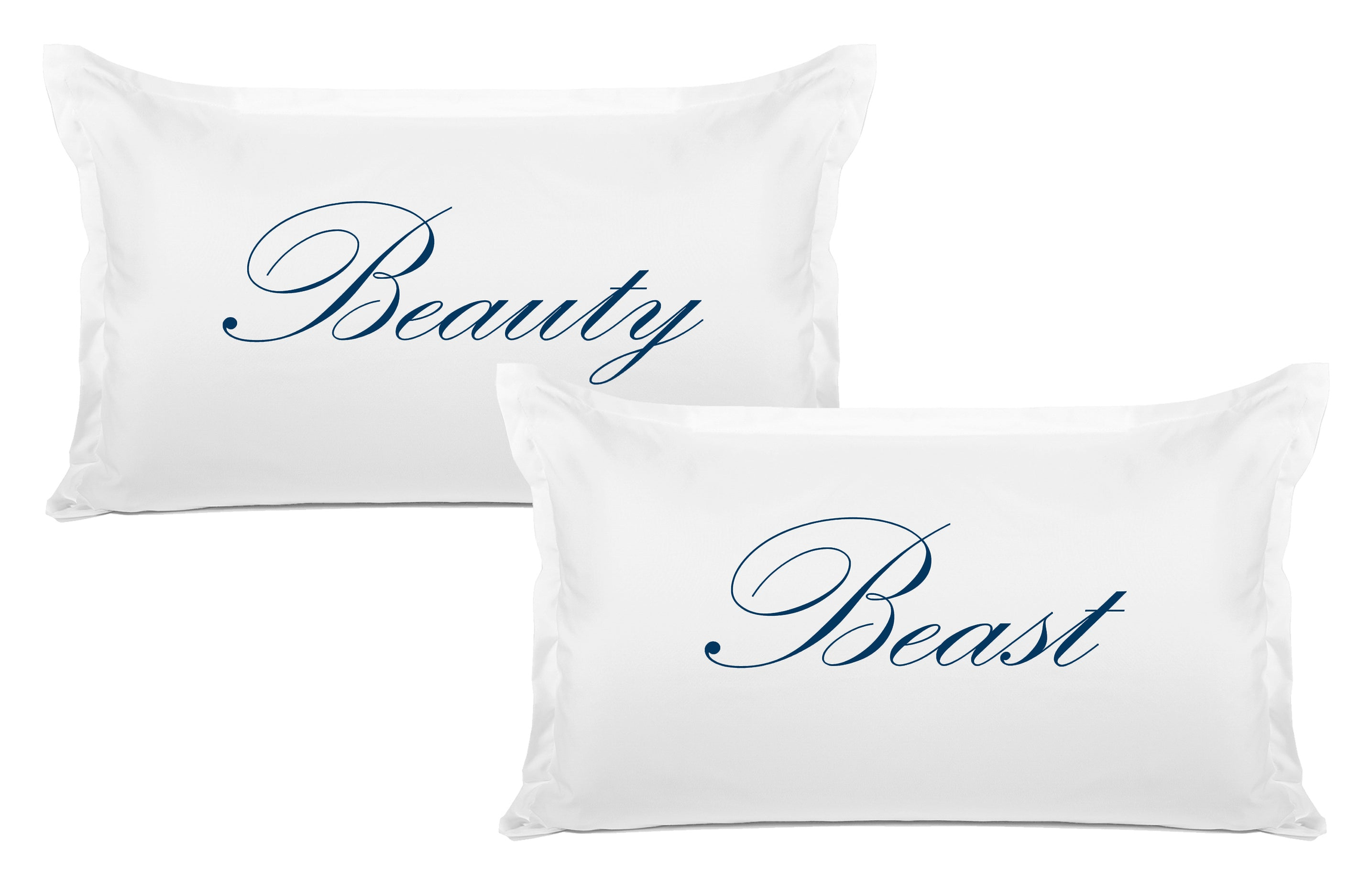 Beauty, Beast - His & Hers Pillowcase Collection-Di Lewis