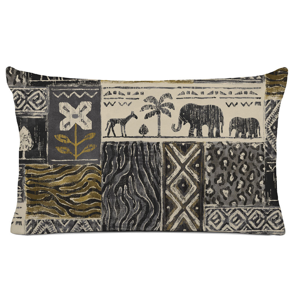 DECORATIVE PILLOW SHAM - BEDDING - SAFARI CHARCOAL - ANIMAL DESIGN