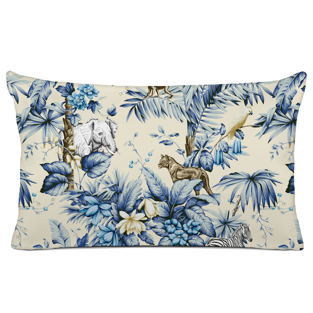 DECORATIVE PILLOW SHAM - BEDDING - ZAMBIA CLASSIC BLUE - ANIMAL DESIGN