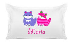 Pink & Purple Cats - Personalized Kids Pillowcase Collection