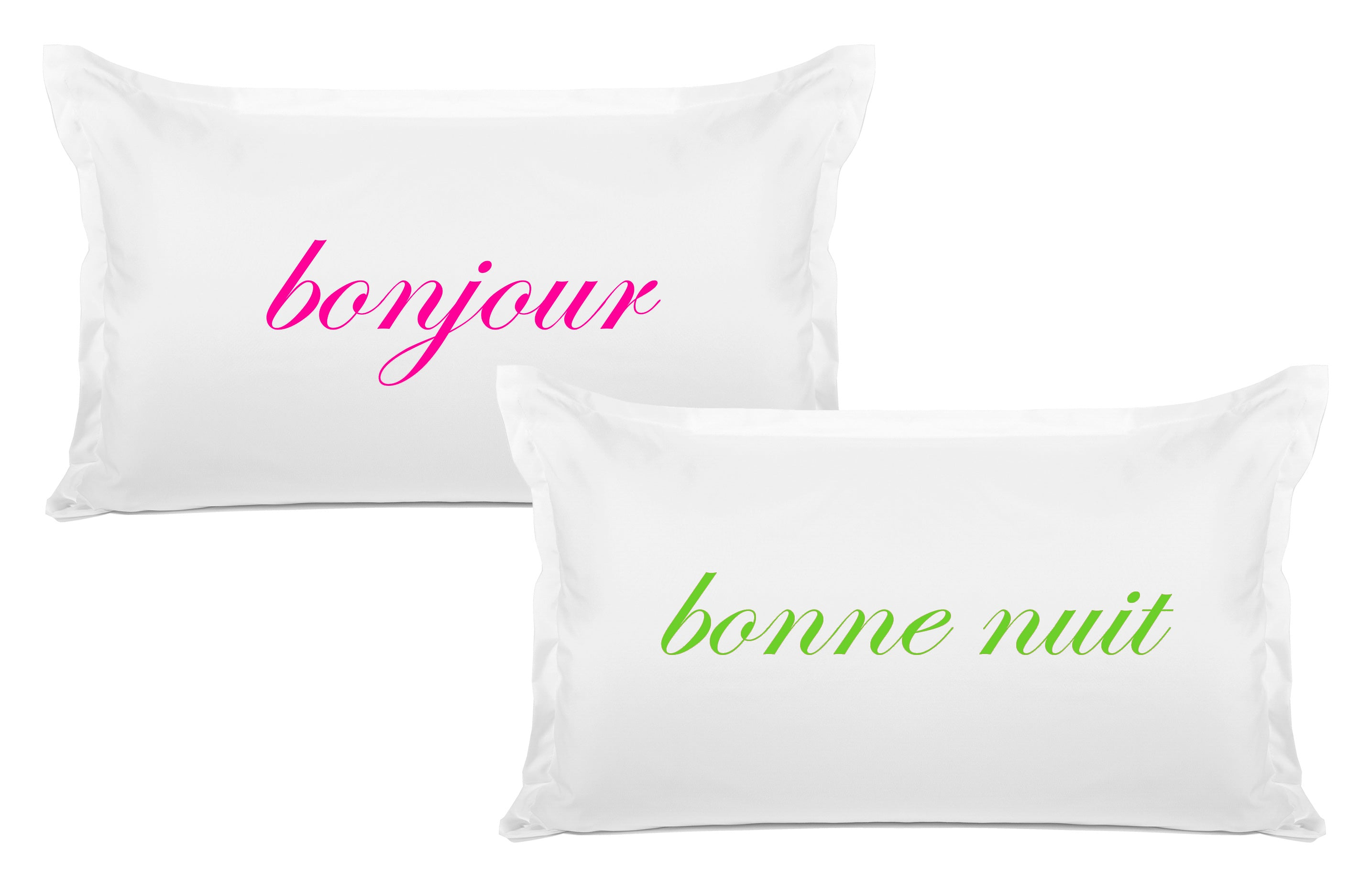 Bonjour, Bonne Nuit - His & Hers Pillowcase Collection