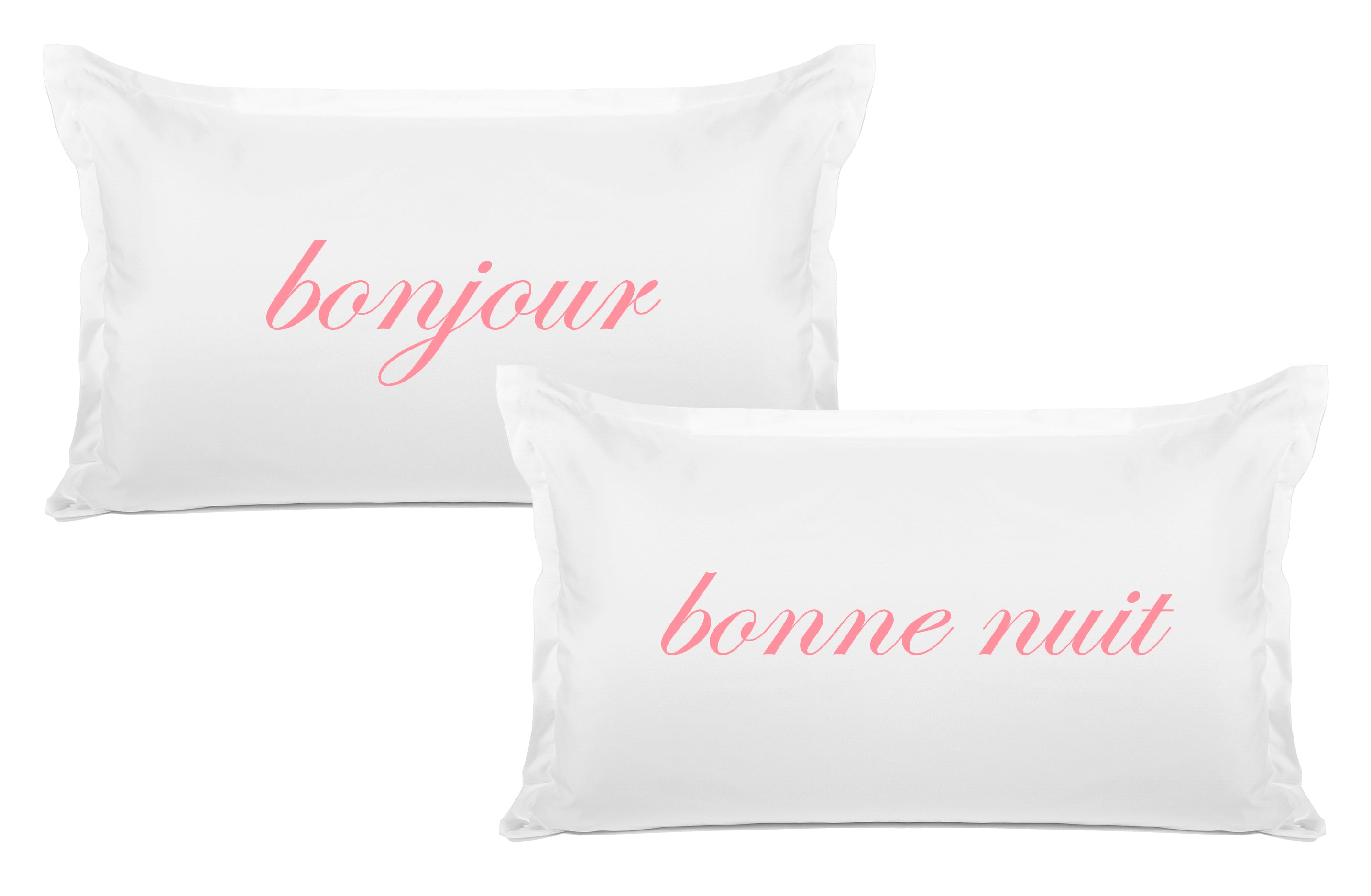 Bonjour Bonne Nuit pillow set Di Lewis bedroom decor