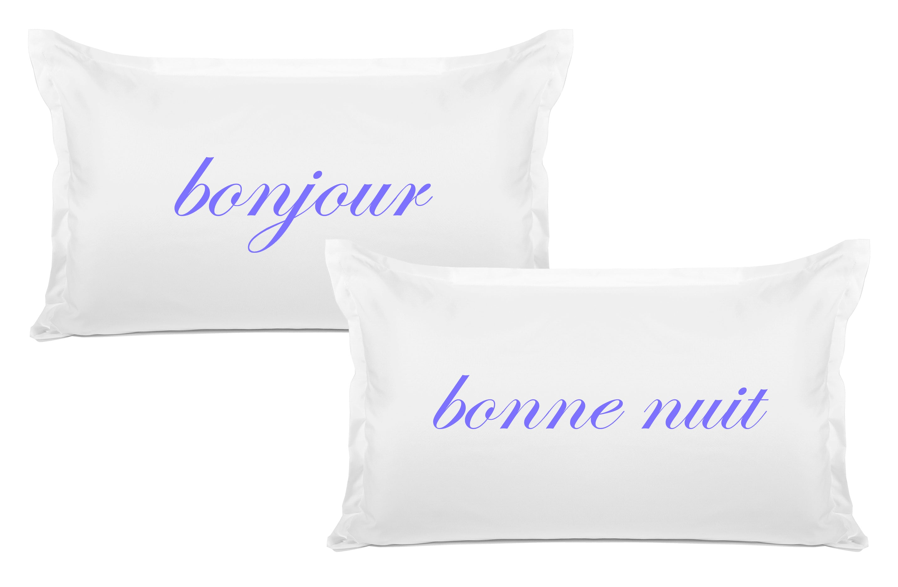 Bonjour, Bonne Nuit - His & Hers Pillowcase Collection-Di Lewis