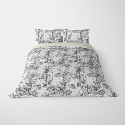 DECORATIVE DUVET COVERS & BEDDING SETS ZAMBIA GREY - ANIMAL DESIGN - HYPOALLERGENIC