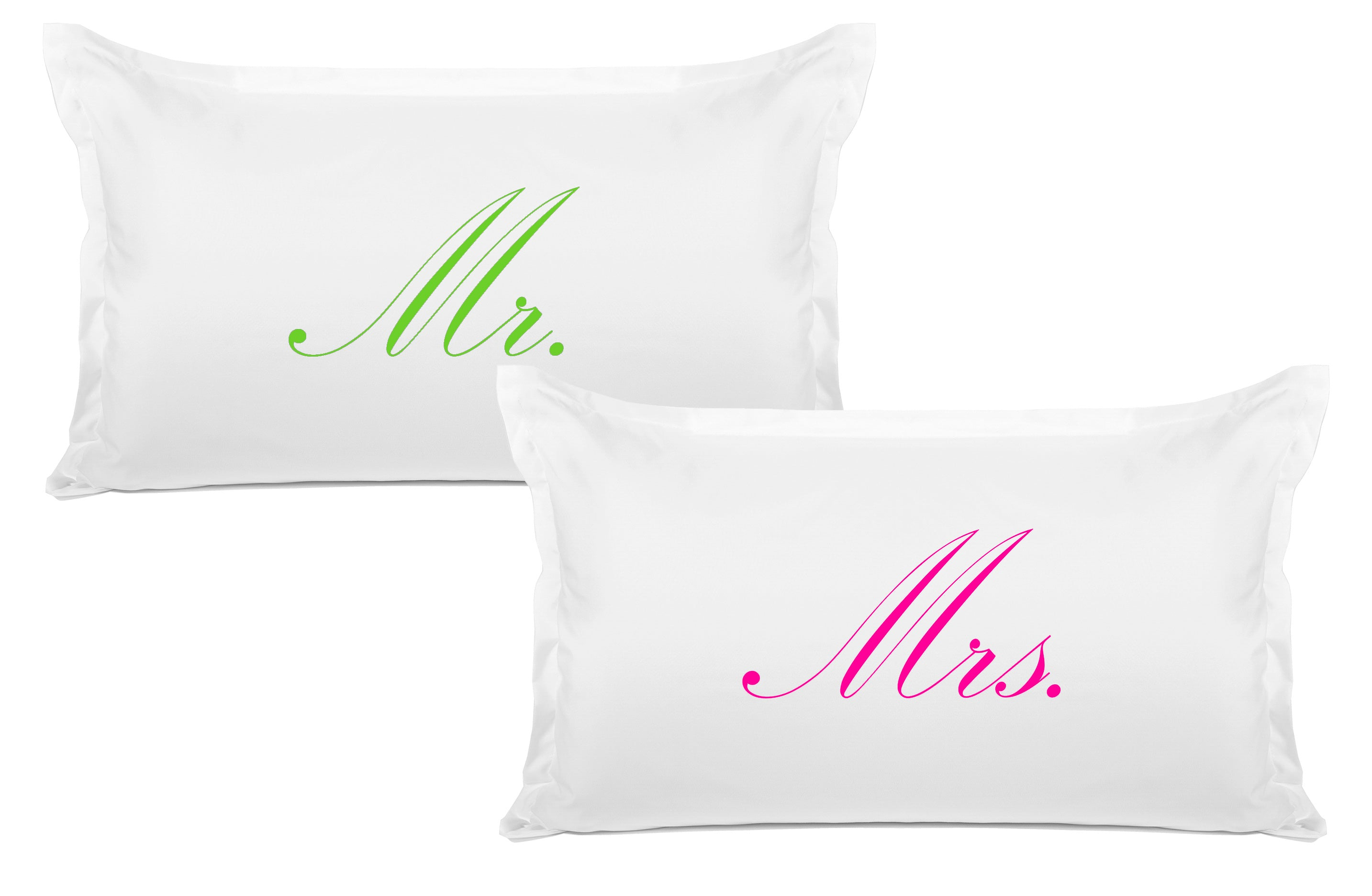 Mr., Mrs. - His & Hers Pillowcase Collection-Di Lewis