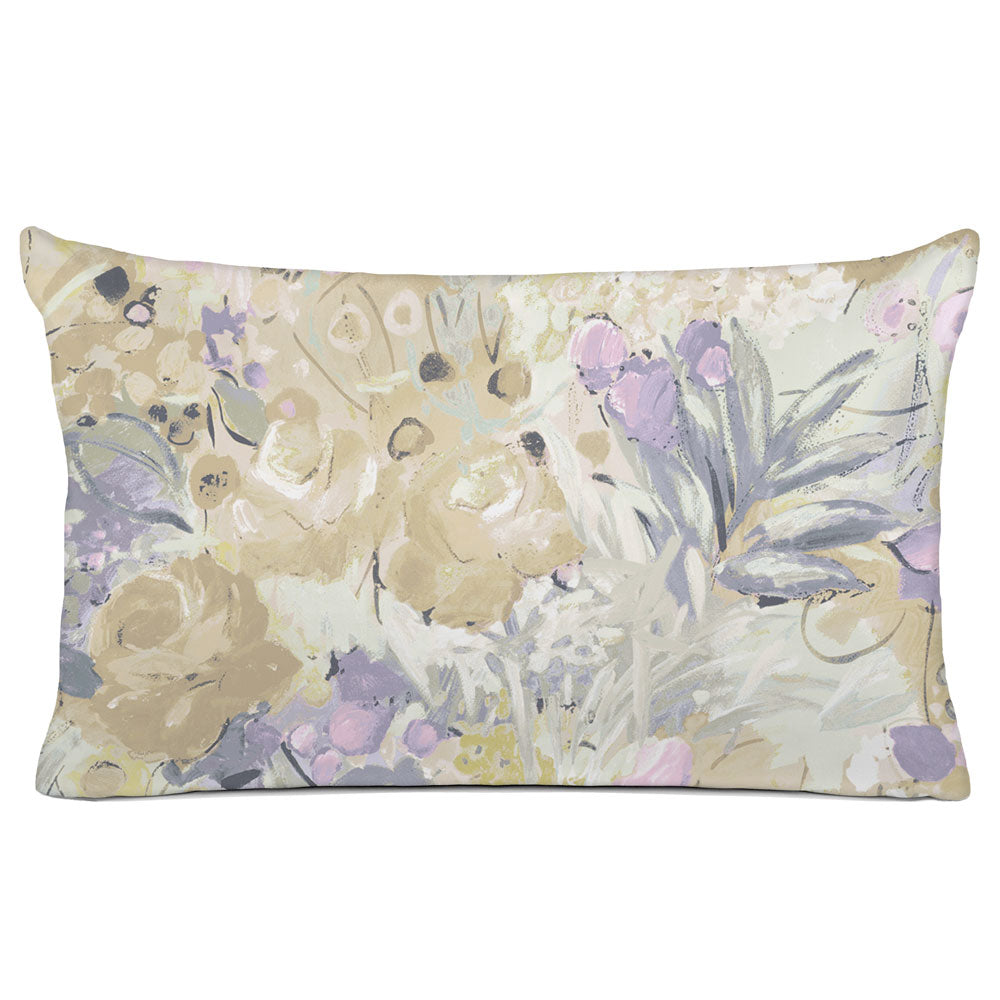 FLORAL PILLOW SHAM - BEDDING - DUFY NATURAL - FLORAL DESIGN