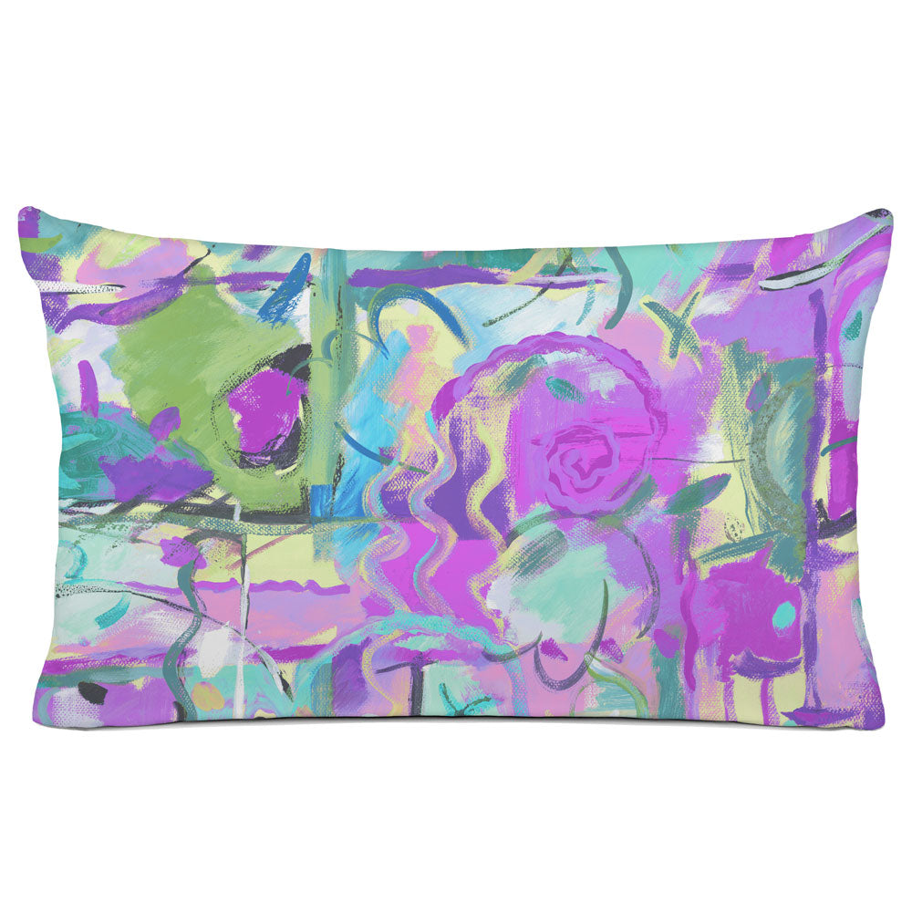 ABSTRACT PILLOW SHAM - BEDDING - LE FETE VIOLET - GEOMETRIC DESIGN