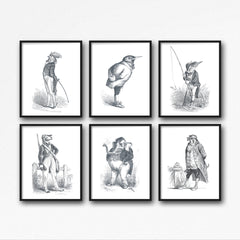 The King Fisher Illustration Art Print Di Lewis Living Room Wall Decor