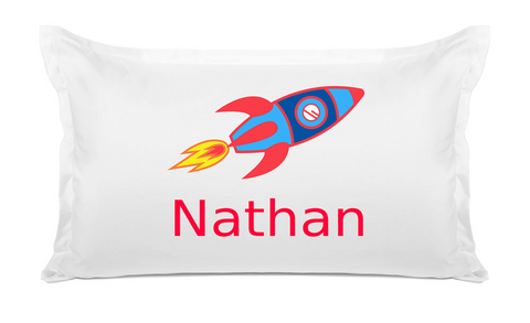 Rocket - Personalized Kids Pillowcase Collection