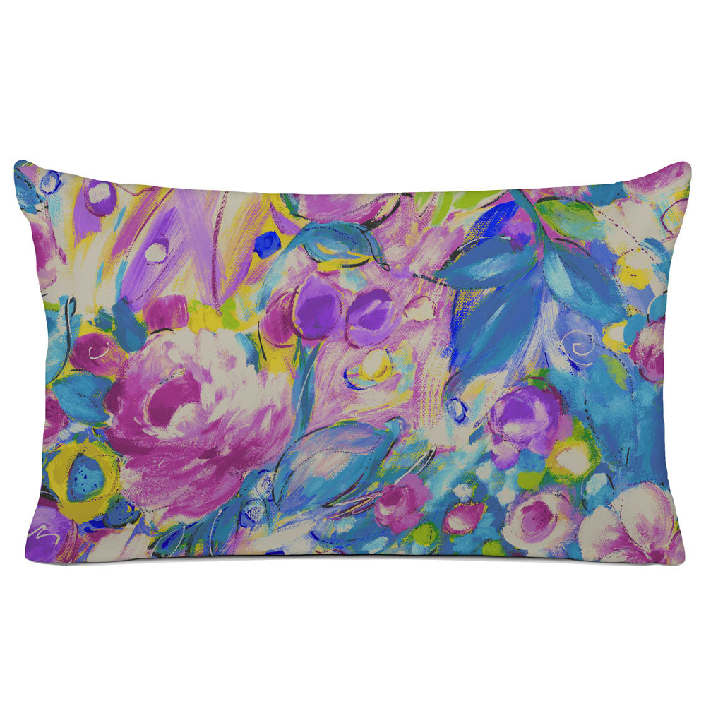 FLORAL PILLOW SHAM - BEDDING - ORONA VINTAGE BERRY - FLORAL DESIGN