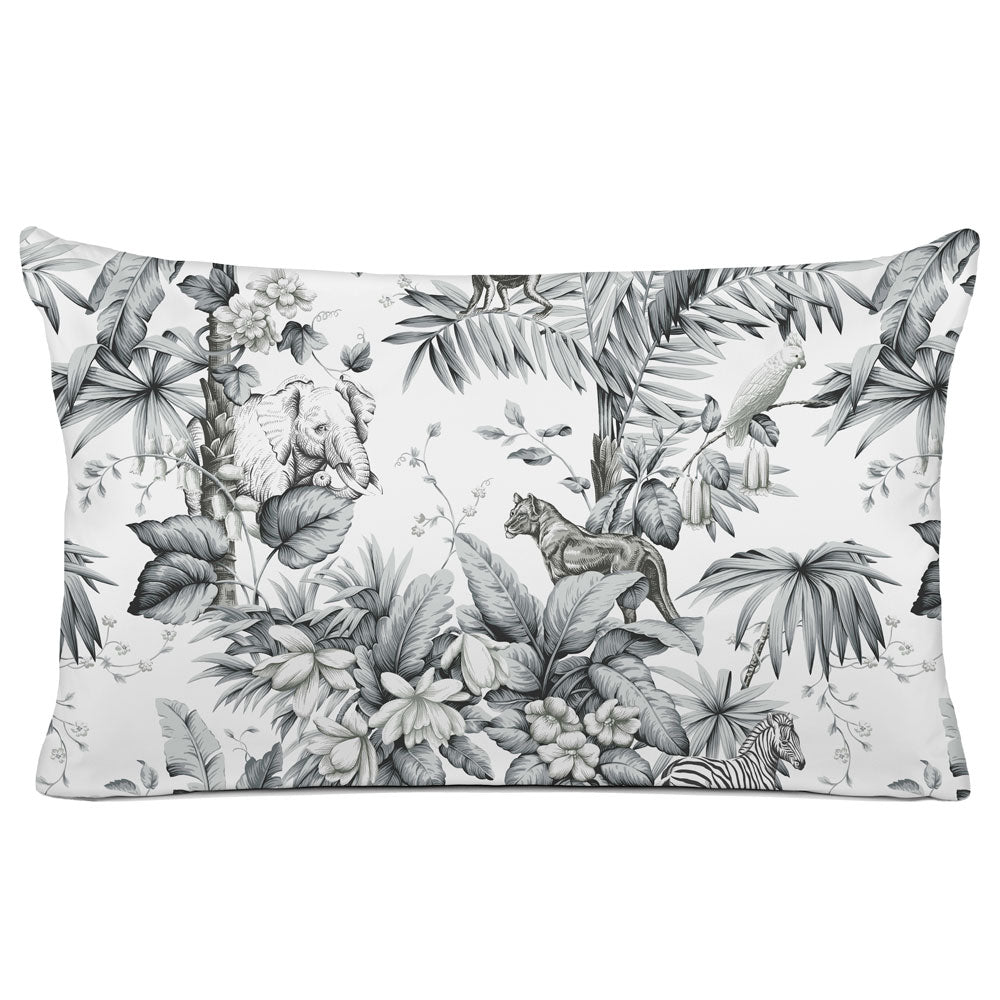 DECORATIVE PILLOW SHAM - BEDDING - ZAMBIA GREY - ANIMAL DESIGN