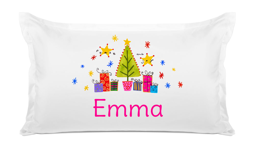 Christmas Tree Joy - Kids Personalized Pillowcase Collection