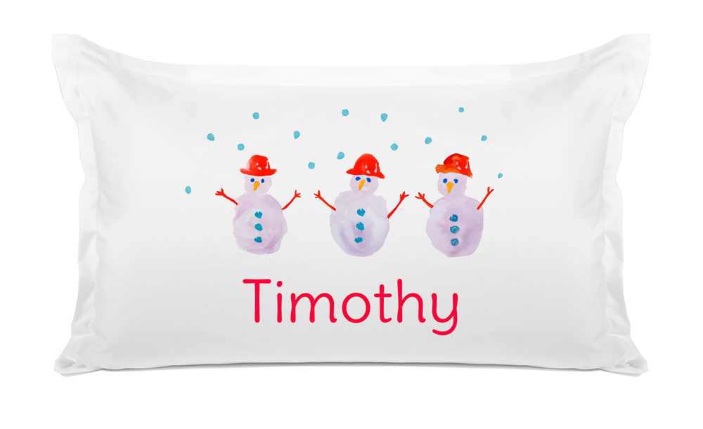 Winter Snowman - Kids Personalized Pillowcase Collection