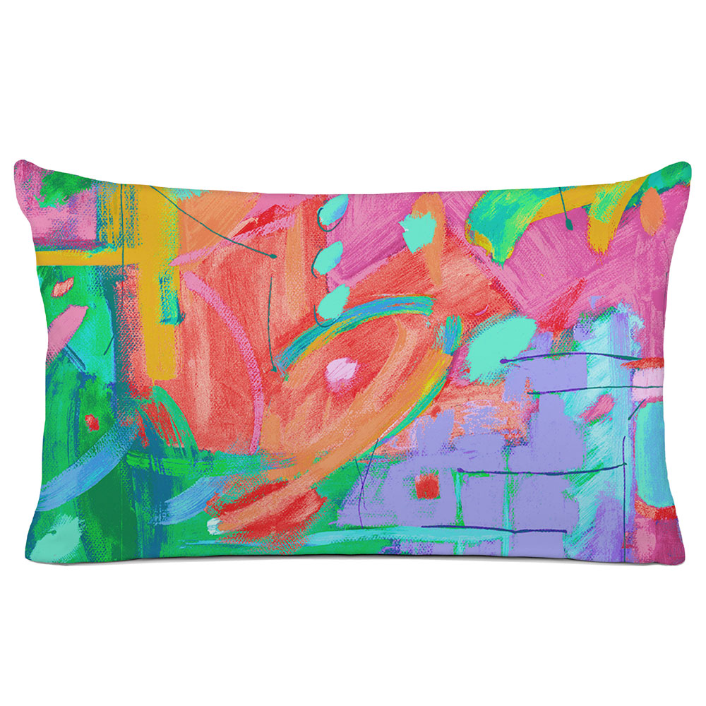 ABSTRACT PILLOW SHAM - BEDDING - MUSEE MULTI COLOR - GEOMETRIC DESIGN