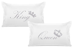 King Crown, Queen Crown Expressions Pillowcase Pairs Di Lewis