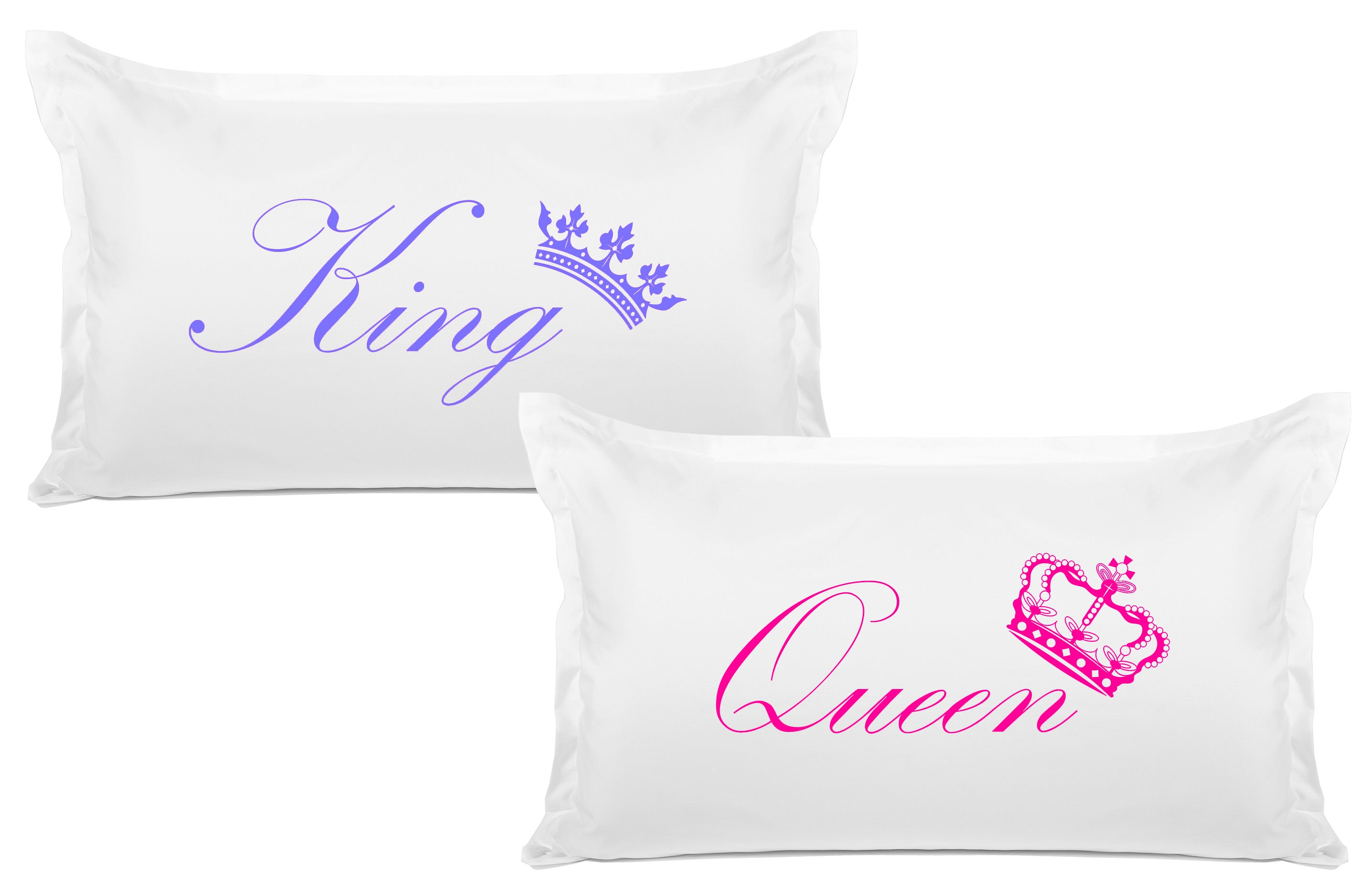 King Crown, Queen Crown - His & Hers Pillowcase Collection