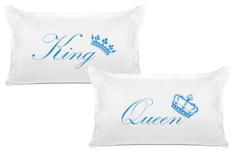 King Crown, Queen Crown - His & Hers Pillowcase Collection-Di Lewis