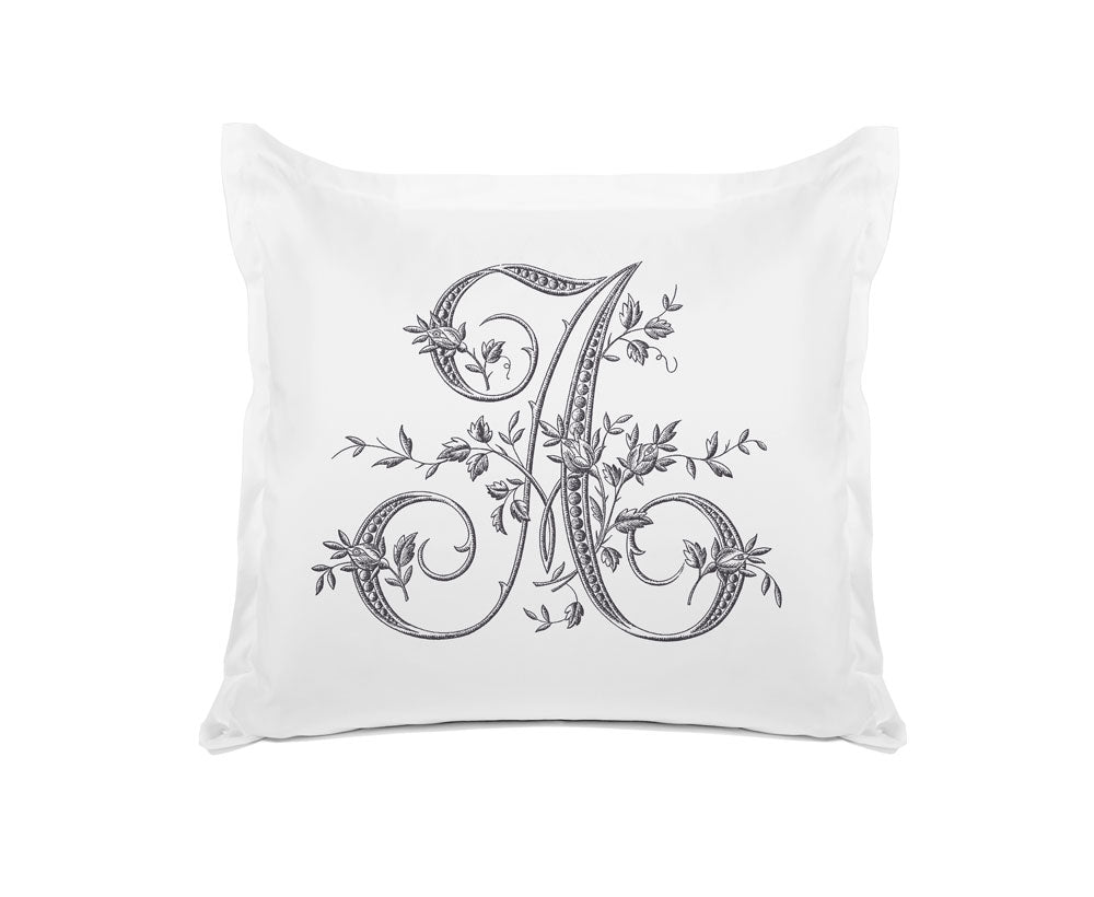 Vintage French Monogram Letter A Pillowcase