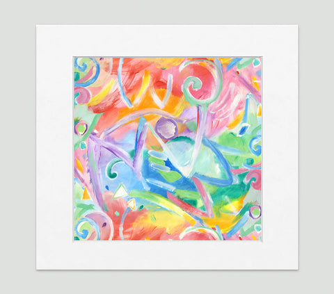 Acrobate Art Print - Abstract Art Wall Decor Collection-Di Lewis