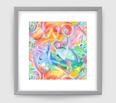 Acrobate Abstract Art Print Di Lewis