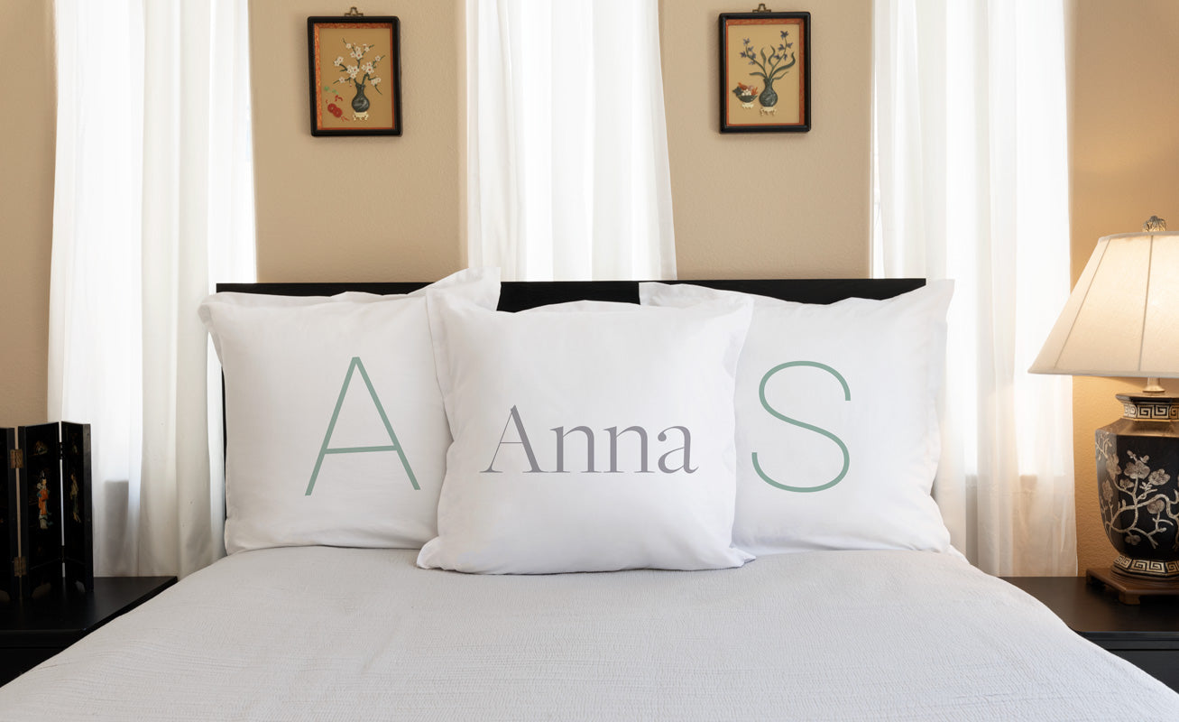 Modern (Monogram) - Personalized Pillowcase Collection-Di Lewis