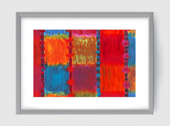Aerial Abstract Art Print Di Lewis Living Room Wall Decor