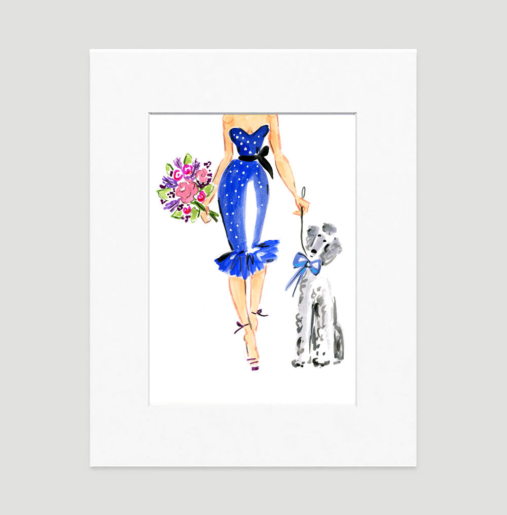 After Five Art Print - Fashion Illustration Wall Art Collection-Di Lewis