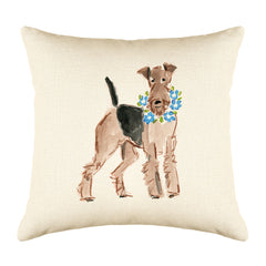 Atlas Airedale Throw Pillow Cover