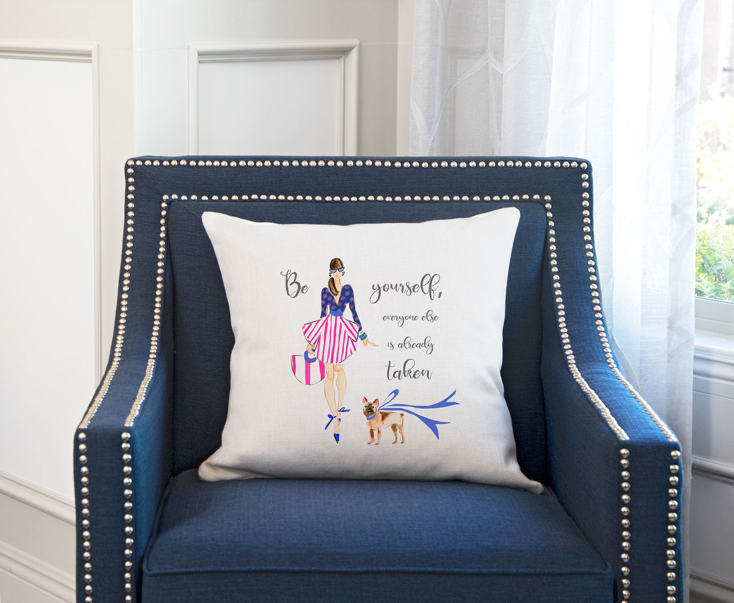 All About Me Throw Pillow Cover