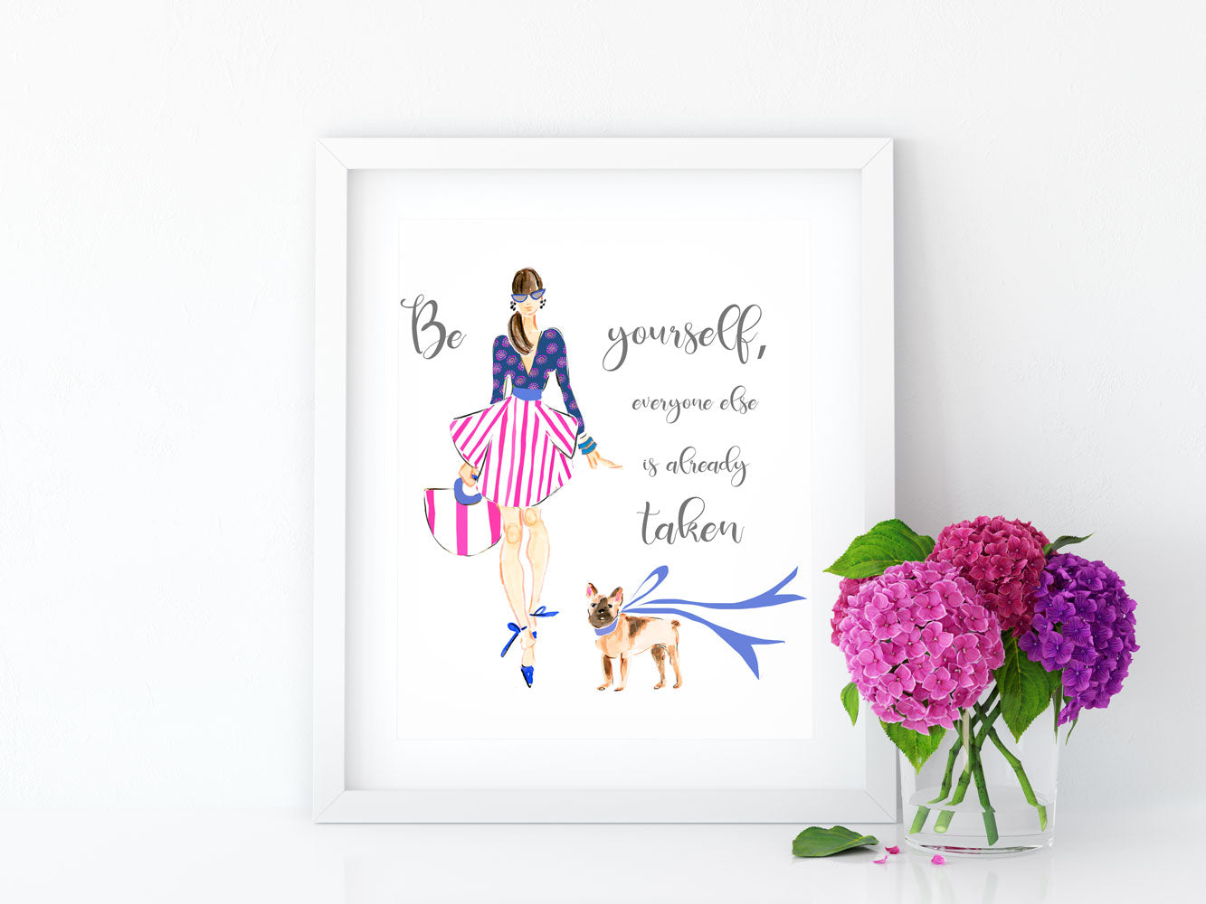 "Watercolor Fashion Illustration ""All About Me"""
