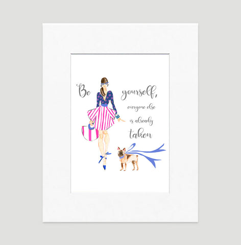 All About Me Art Print - Fashion Illustration Wall Art Collection-Di Lewis