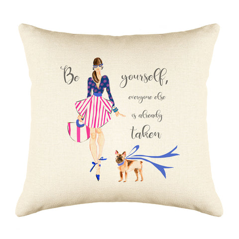 All About Me Throw Pillow Cover - Fashion Illustrations Throw Pillow Cover Collection-Di Lewis