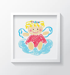 Angelina the Angel - Kids Wall Art Collection-Di Lewis