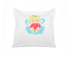 Angelina Personalized Euro Sham Di Lewis Kids Bedding