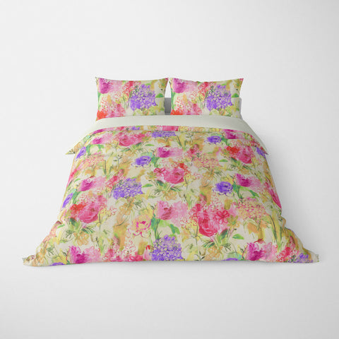 ARABELLA FLORAL DUVET COVER MULTI – DUVET COVER & PILLOW SHAM COLLECTION