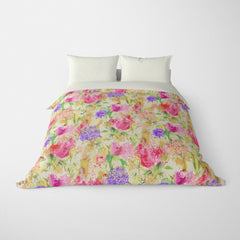 FLORAL DUVET COVERS & BEDDING SETS ARABELLA MULTI COLOR - FLOWER DESIGN - HYPOALLERGENIC