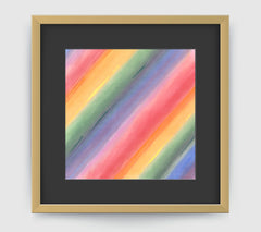 Aurora Multi Abstract Art Print Di Lewis Living Room Wall Decor