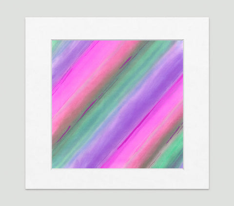 Aurora Pink Purple Green Art Print - Abstract Art Wall Decor Collection-Di Lewis