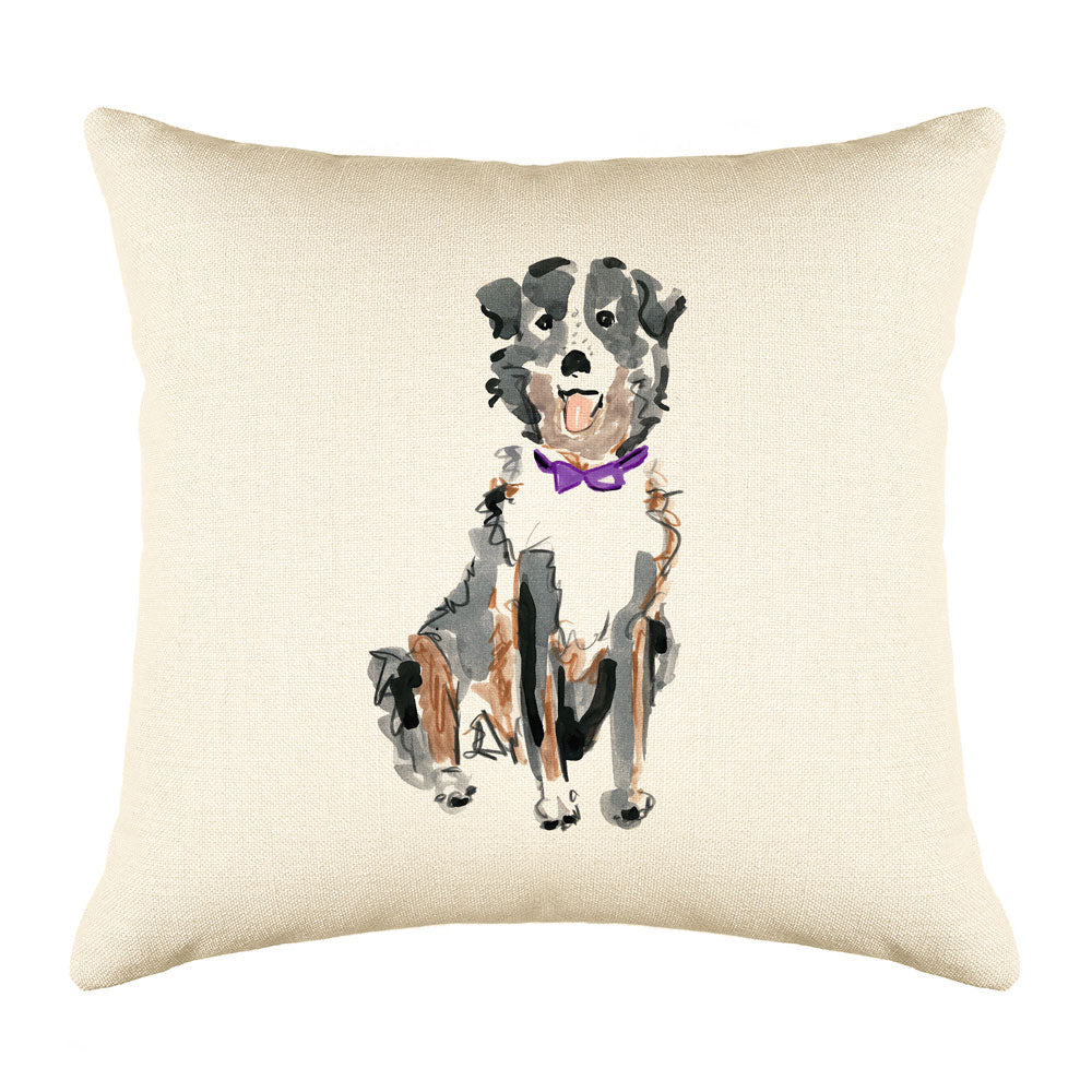 Sheldon Shepard Throw Pillow Cover - Dog Illustration Throw Pillow Cover Collection-Di Lewis