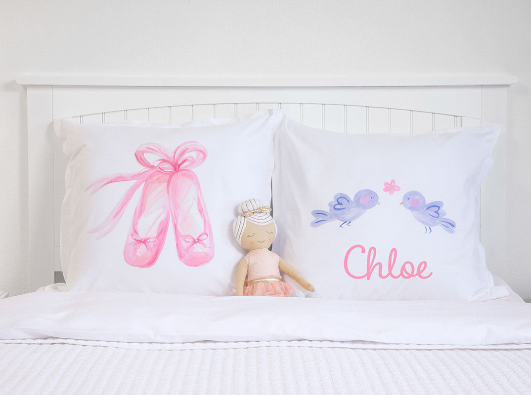 En Pointe - Personalized Kids Pillowcase Collection-Di Lewis