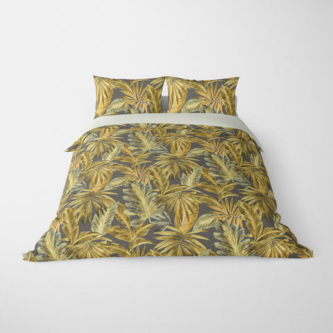 TROPICAL  DUVET COVERS & BEDDING SETS - BAHAMA BAMBOO  - TROPICAL LEAVES  - HYPOALLERGENIC