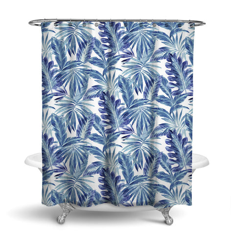 BAHAMA TROPICAL SHOWER CURTAIN CLASSIC BLUE – SHOWER CURTAIN COLLECTION