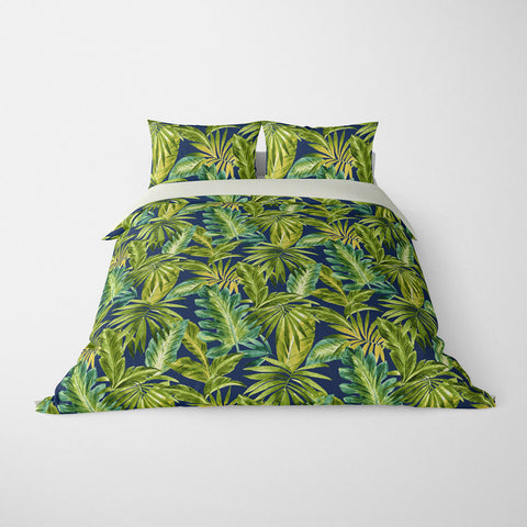 BAHAMA TROPICAL DUVET COVER INDIGO – DUVET COVER & PILLOW SHAM COLLECTION